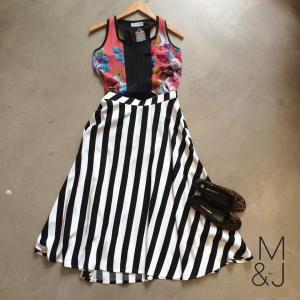 Blackeyed Susan vest R299, Coppelia Clothing Skirt R560, MJ pumps R440